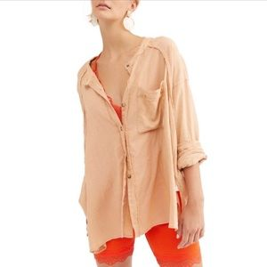 Free People Keep it Simple Oversized Button Up S